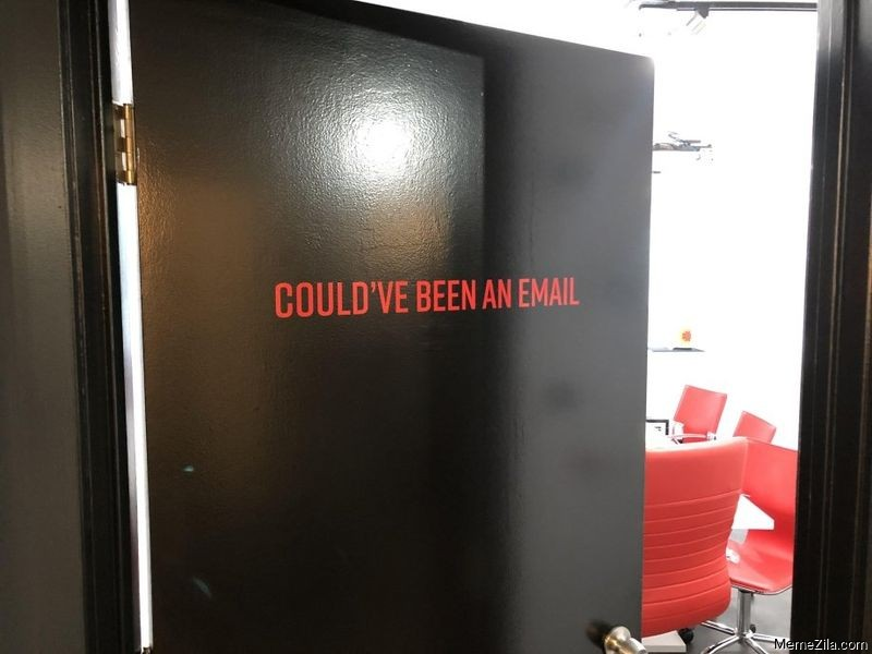 Could have been an email door meme