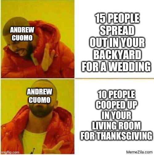 Cuomo Thanksgiving Drake meme