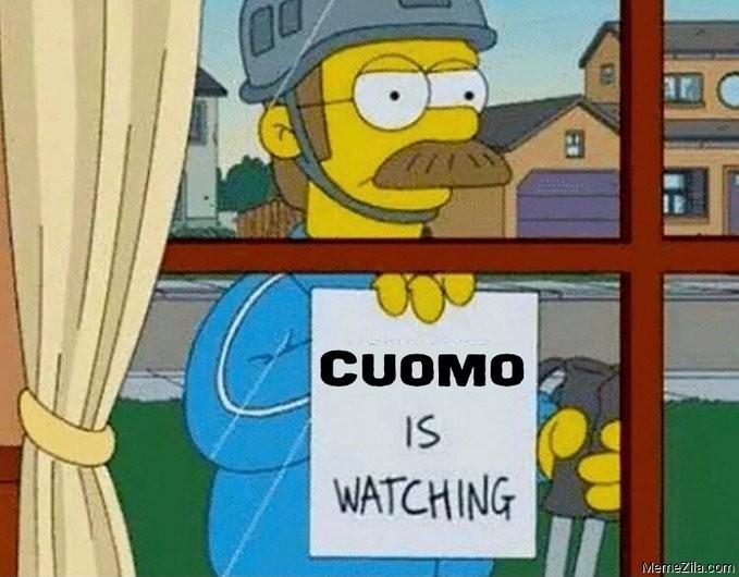 Cuomo is watching meme