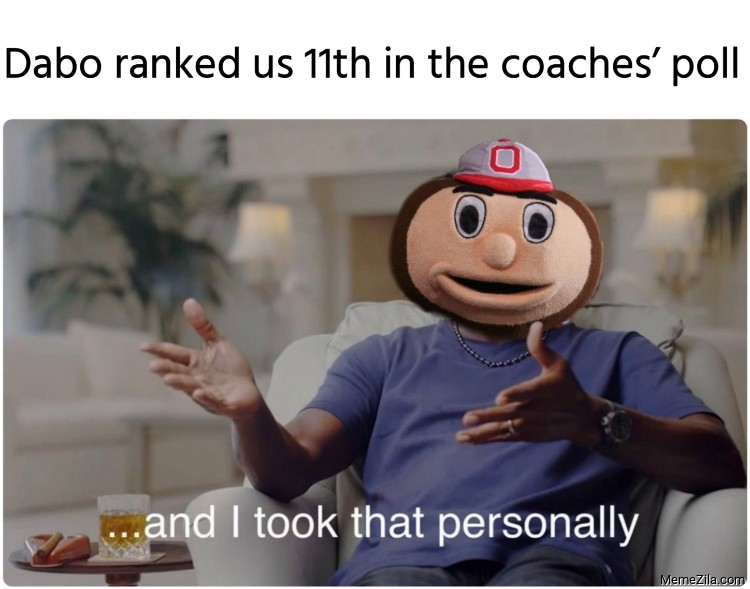 Dabo ranked us 11th in the coaches poll meme