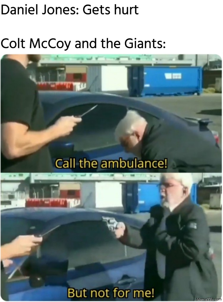 Daniel Jones gets hurts Meanwhile Colt McCoy and The Giants meme