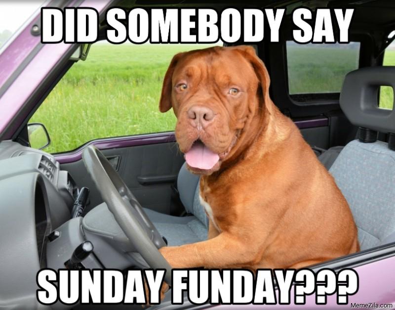 Did somebody say Sunday Funday meme