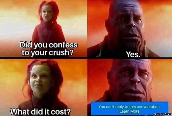 Did you confess to your crush meme