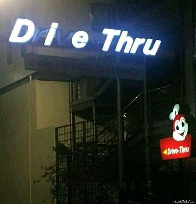 Die thru Drive thru meme