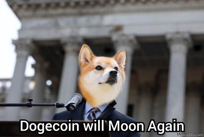 Dogecoin will moon again meme