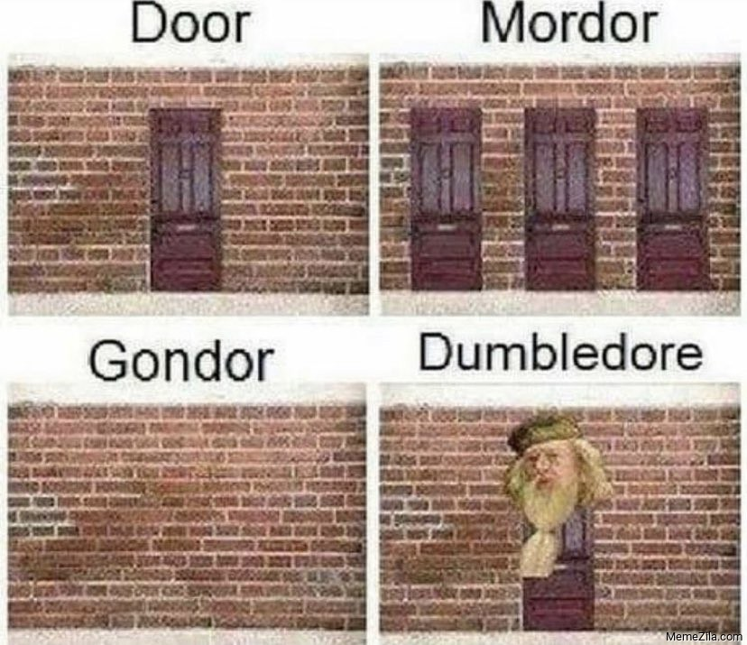 Door Mordor Gondor Dumbledore meme