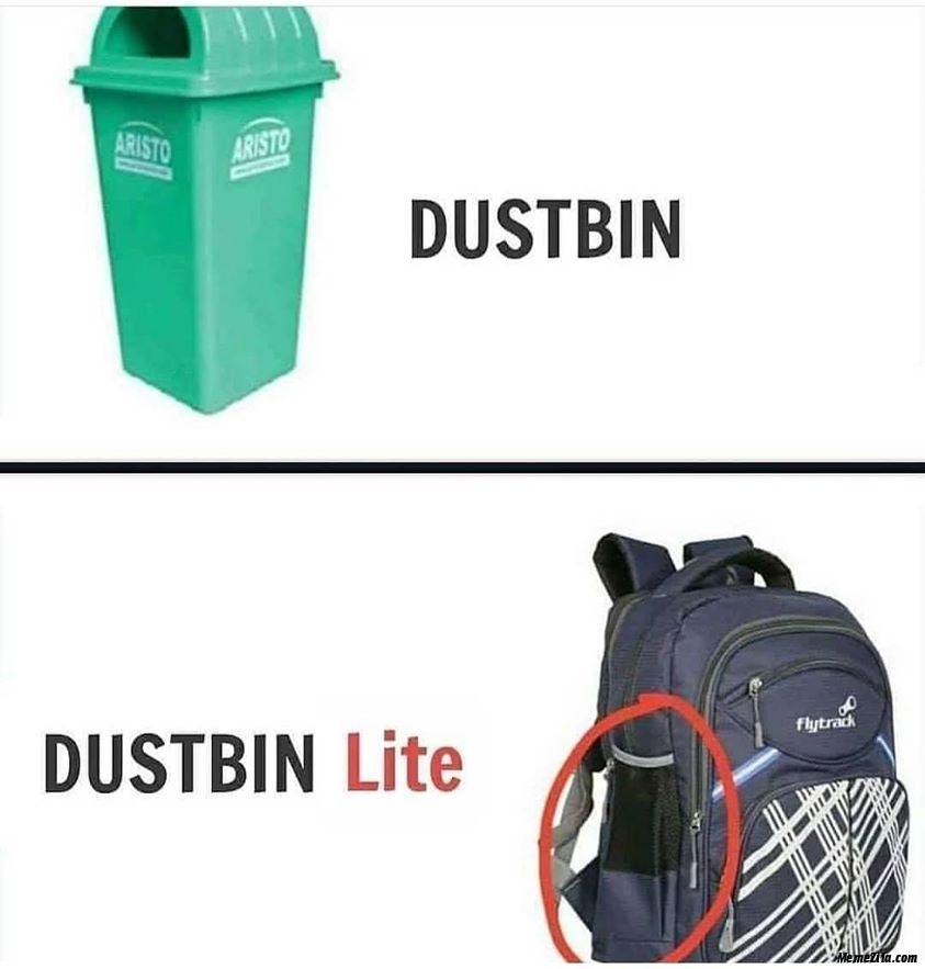 Dustbin lite meme