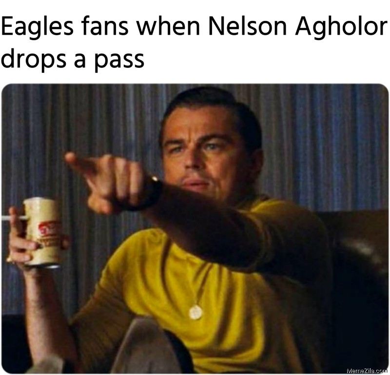Eagles fans when Nelson Agholor drops a pass meme