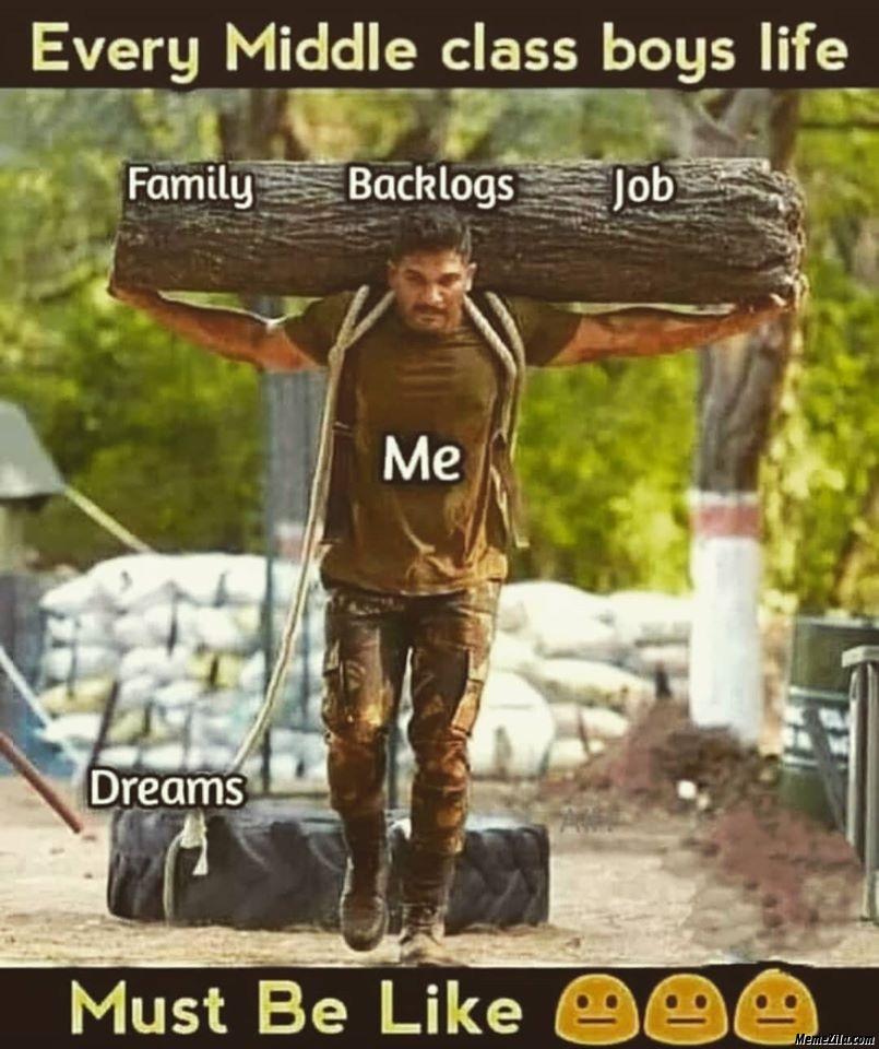 Every middle class boys life meme