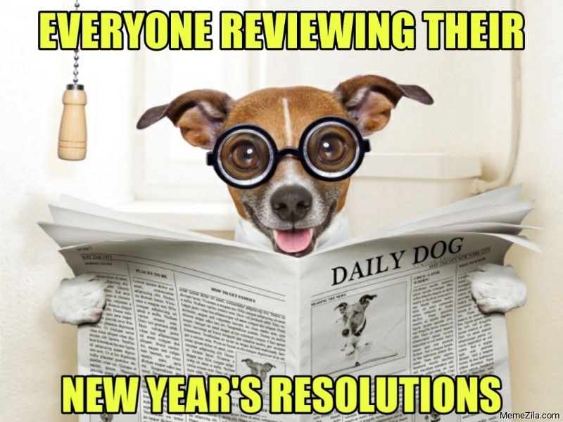 Everyone reviewing their new years resolutions meme