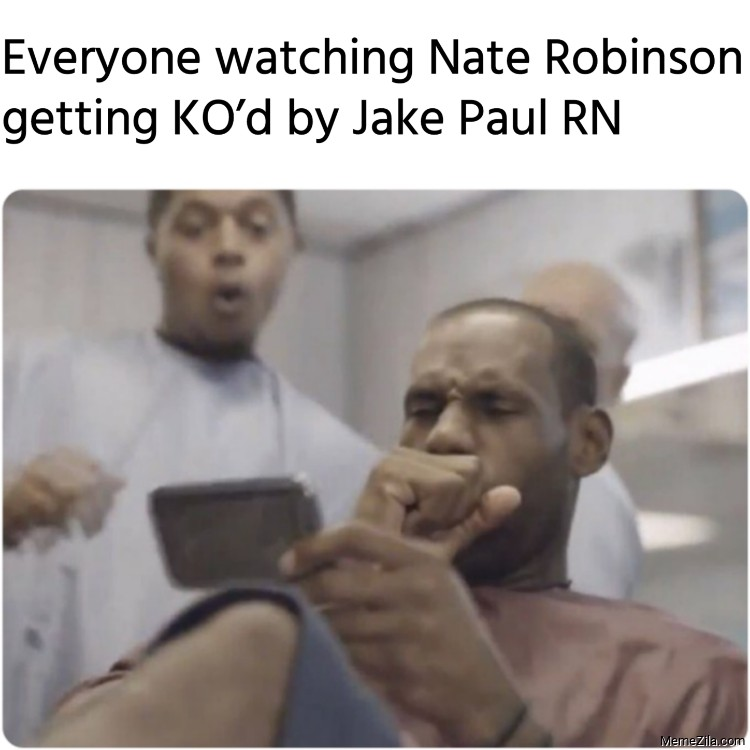 Everyone watching Nate Robinson getting KOd by Jake Paul RN meme
