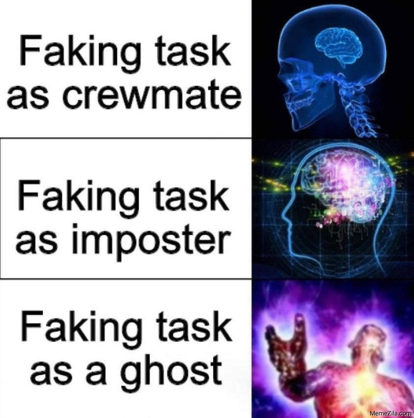 Faking task as a ghots meme