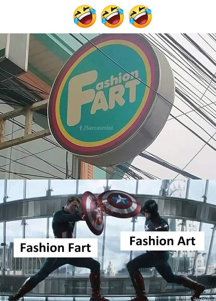Fashion fart vs fashion art meme
