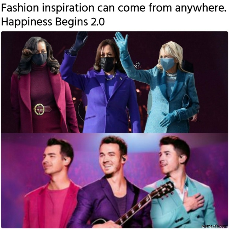 Fashion inspiration can come from anywhere Happiness Begins 2.0 meme