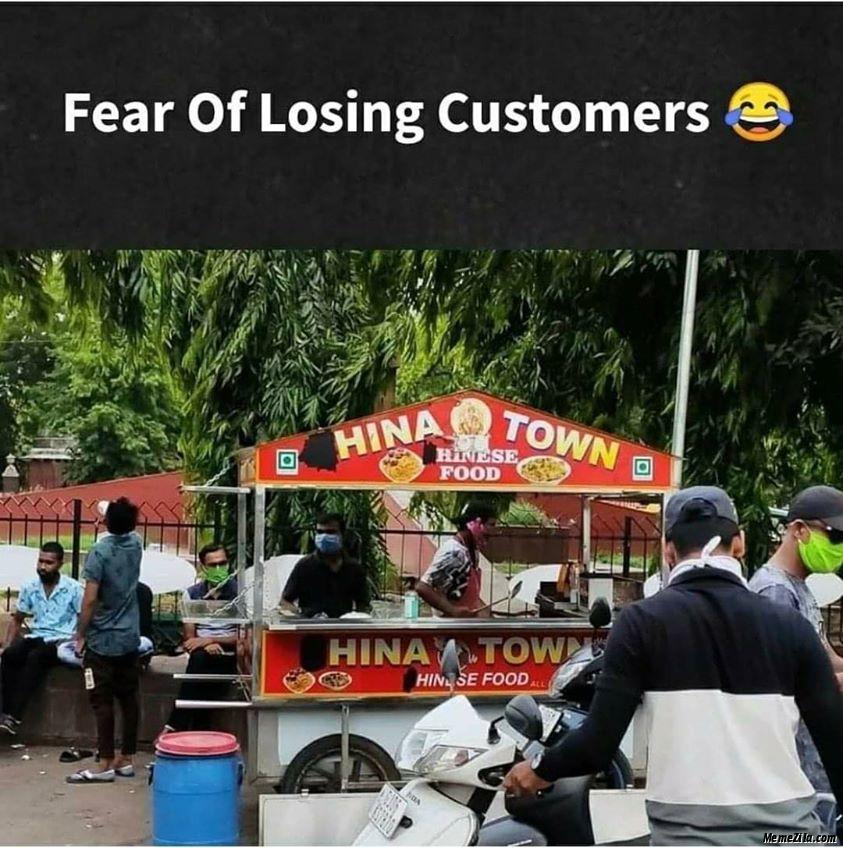Fear of losing customers meme