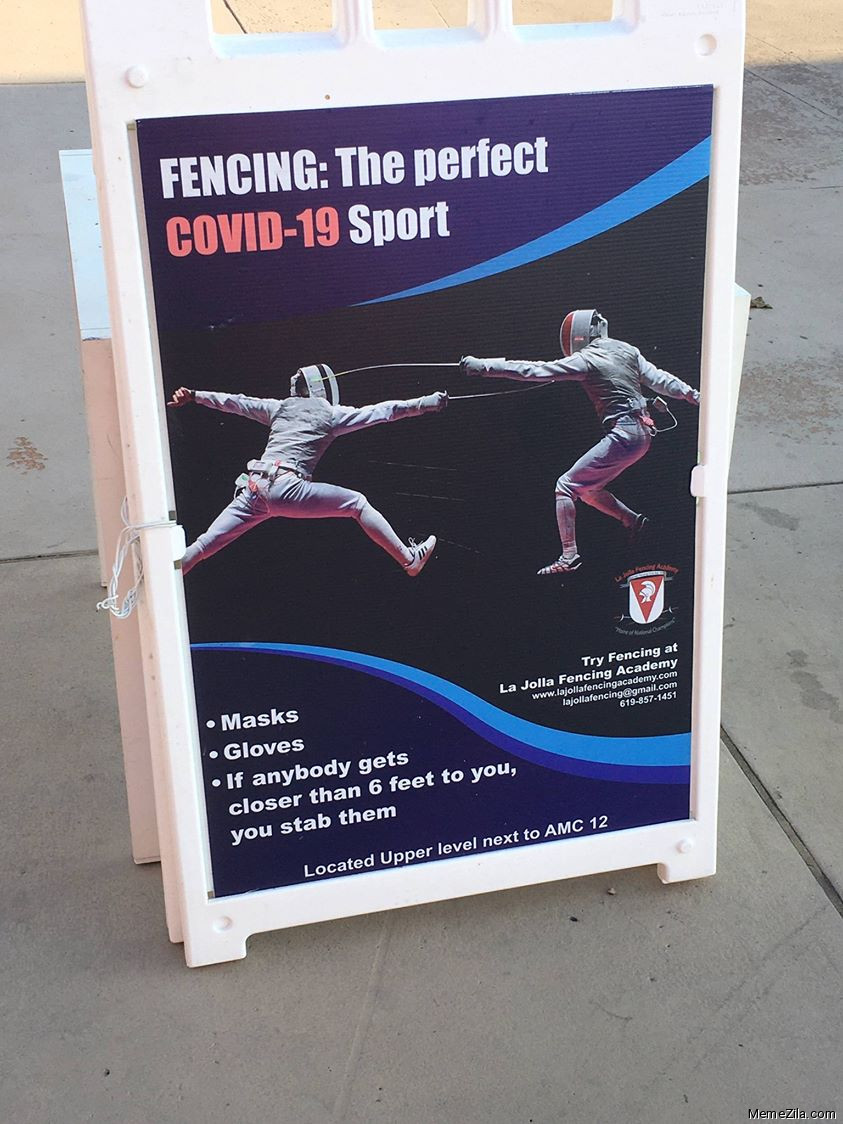 Fencing the perfect covid-19 sport meme