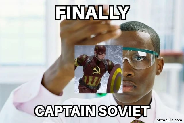 Finally Captain Soviet meme