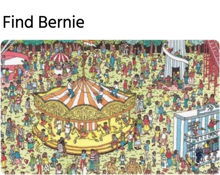 Find Bernie meme