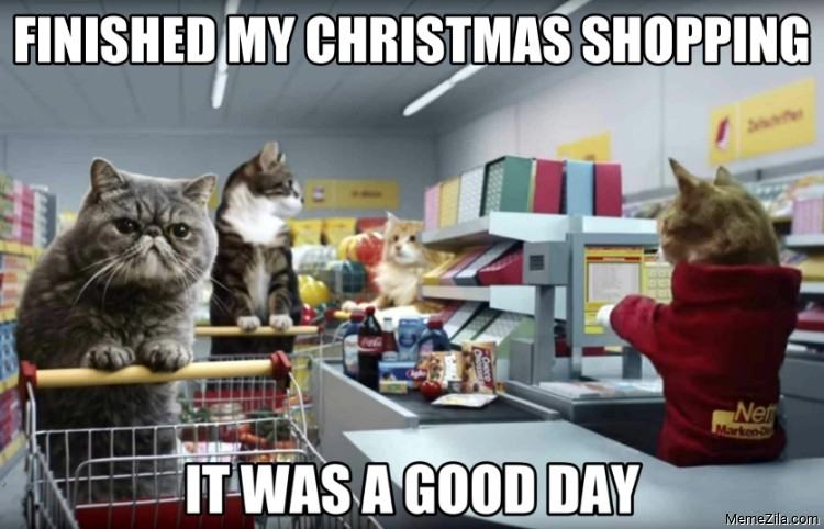Finished my Christmas shopping It was a good day meme