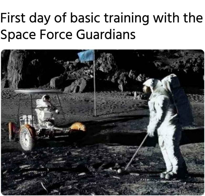 First day of basic training with the Space Force Guardians meme