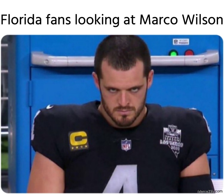 Florida fans looking at Marco Wilson meme