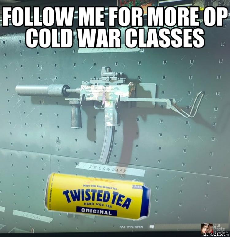 Follow me for more OP cold war classes meme