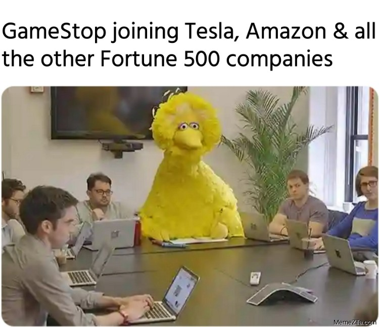 GameStop joining Tesla Amazon and all the other Fortune 500 companies meme