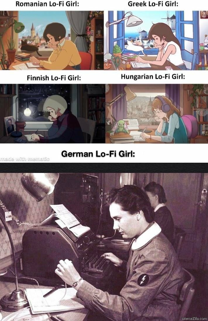 German Lo-fi girl meme