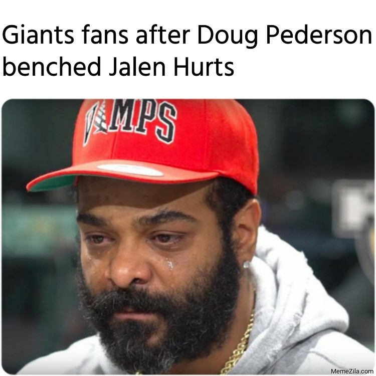 Giants fans after Doug Pederson benched Jalen Hurts meme