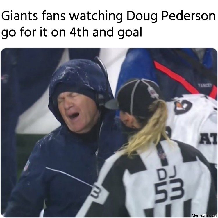 Giants fans watching Doug Pederson go for it on 4th and goal meme