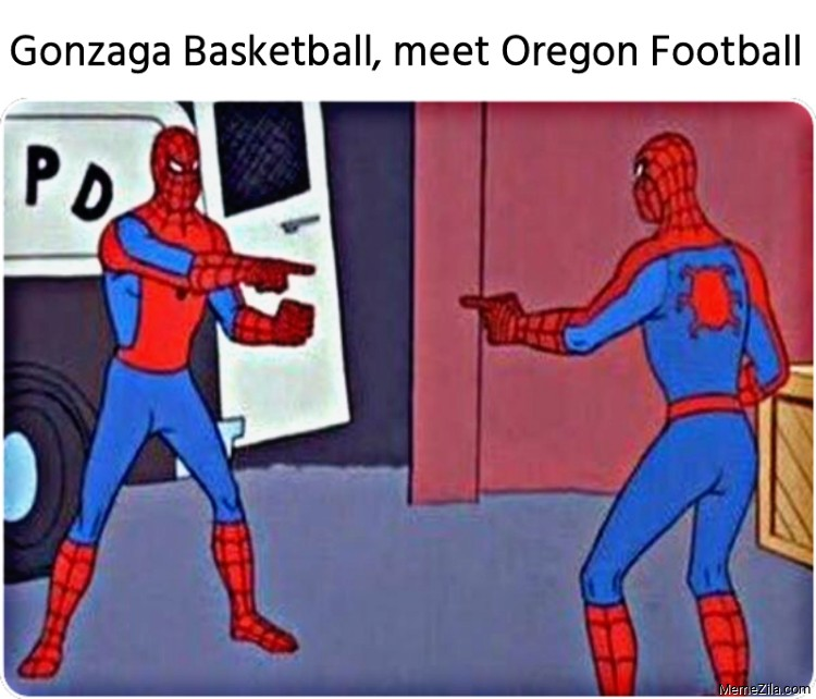 Gonzaga basketball meet Oregon football meme