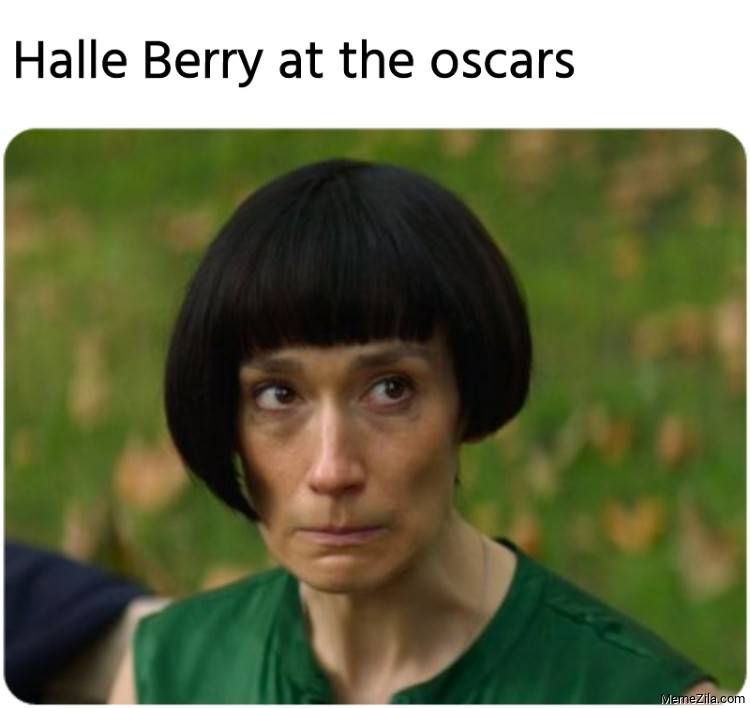 Halle Berry at the oscars meme