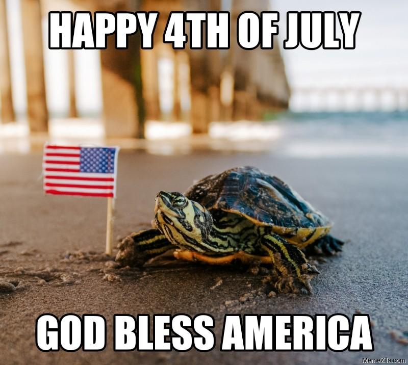 Happy 4th of july God bless America meme