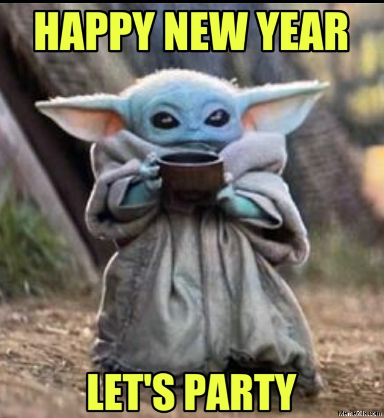 Happy new year Lets party meme