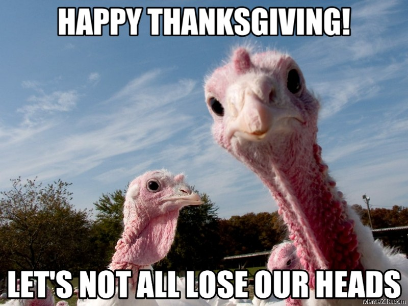 Happy thanksgiving Lets not all lose our heads meme
