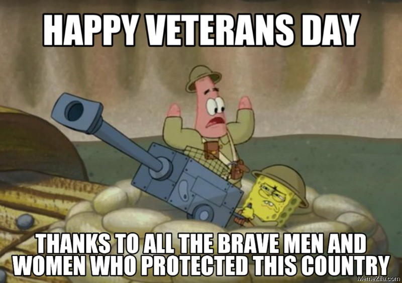 Happy veterans day Thanks to all the brave men and women who protected this country meme