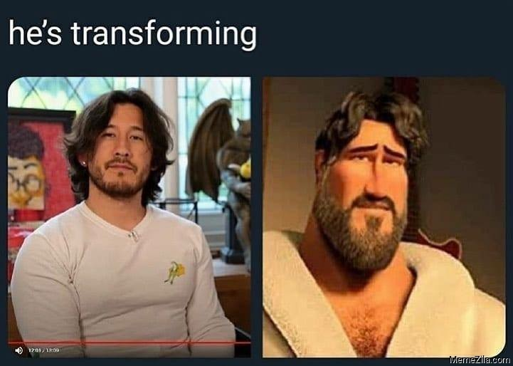 He is transforming meme