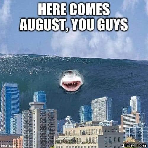 Here comes august you guys meme