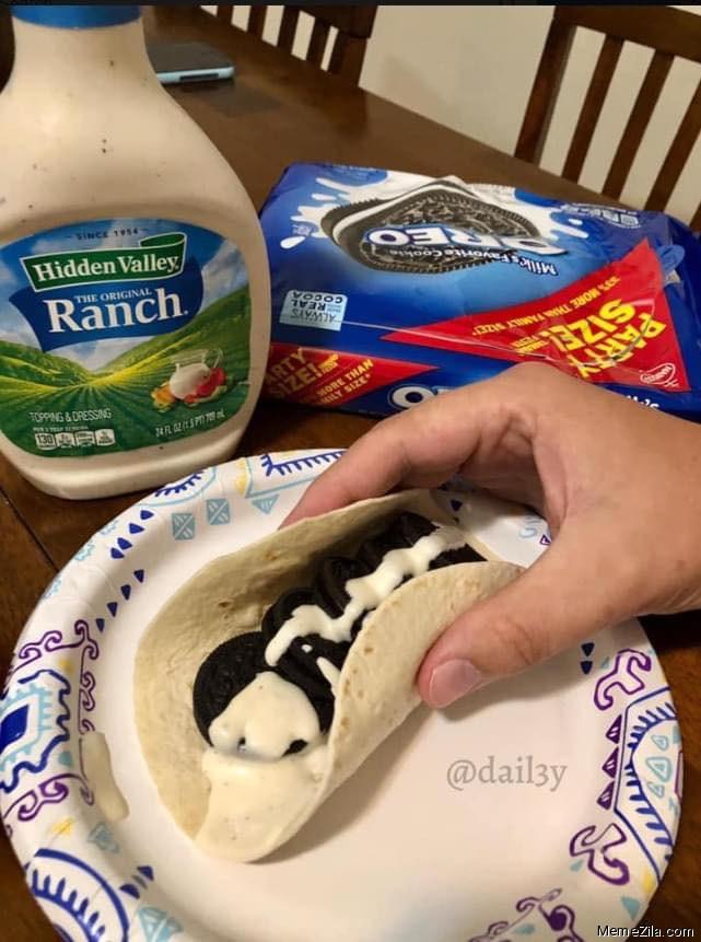 Hidden Valley Ranch with Oreo meme