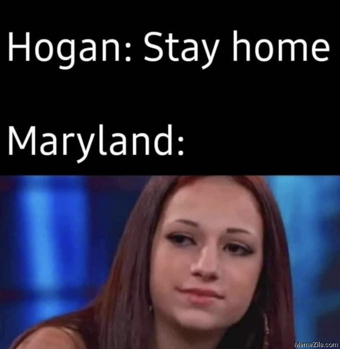 Hogan Stay inside Maryland Cash me outside meme