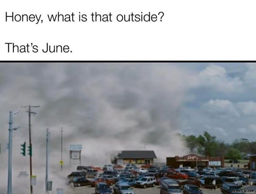 Honey what is that outside Its june meme