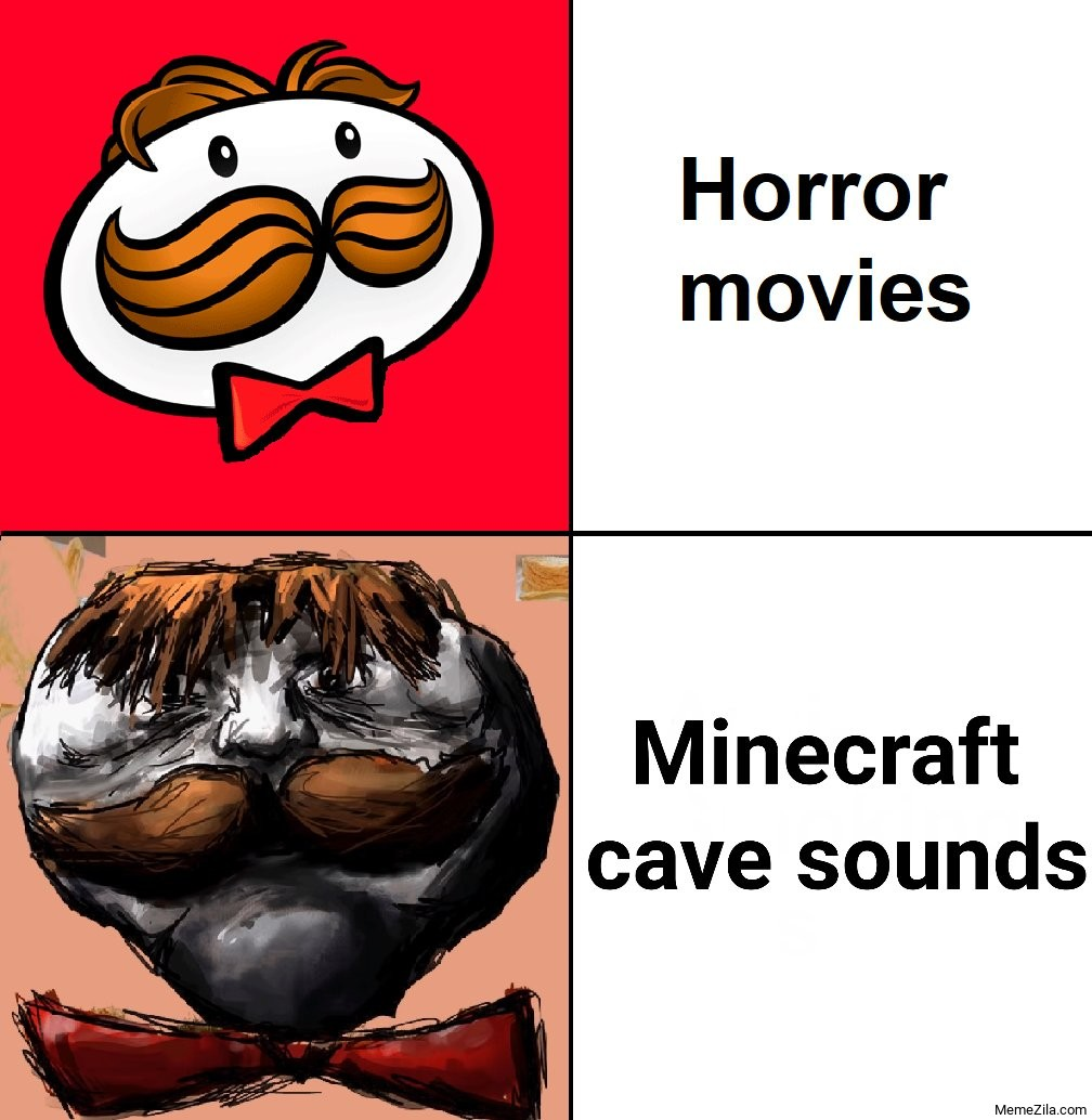 Horror Movies vs Minecraft cave sounds meme