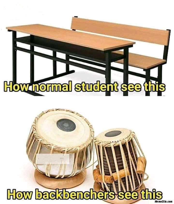 How normal student see this How backbenchers see this meme