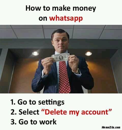 How to make money from whatsapp meme