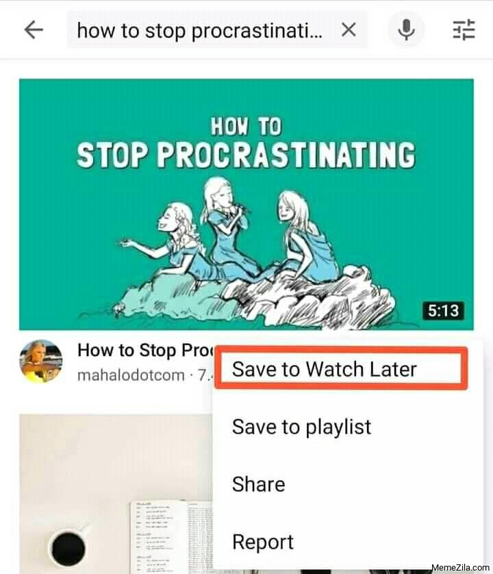 How to stop procrastinating Save to watch later meme