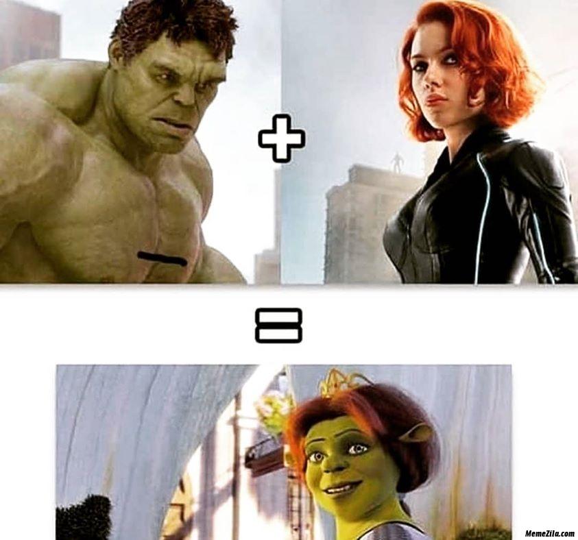 Hulk and black widow meme