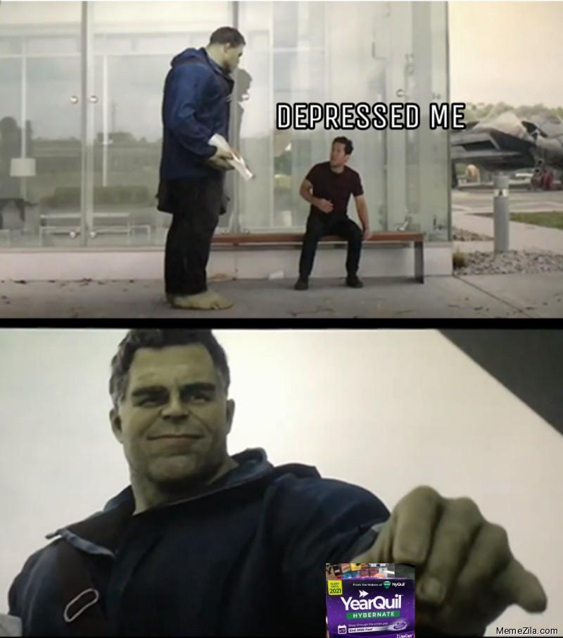 Hulk gives Antman Yearquil meme