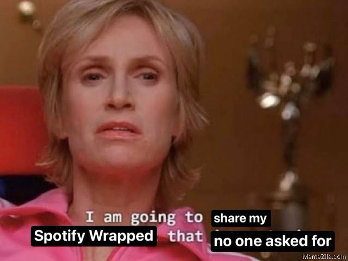 I am going to share my Spotify Wrapped that no one asked for meme