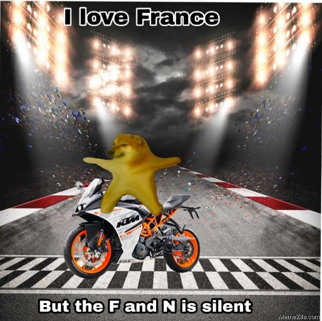 I love France but f and n is silent meme