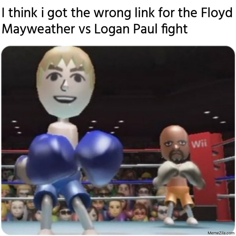 I think I got the wrong link for the Floyd Mayweather vs Logan Paul fight meme
